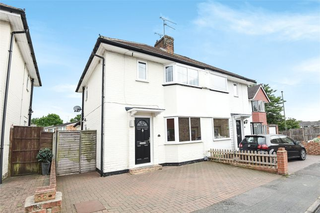 Thumbnail Semi-detached house for sale in Harcourt Road, Camberley, Surrey