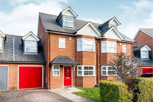 Thumbnail 4 bed semi-detached house to rent in Horton Crescent, Epsom