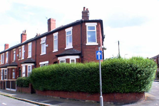 Thumbnail End terrace house to rent in Gleaves Road, Eccles, Manchester