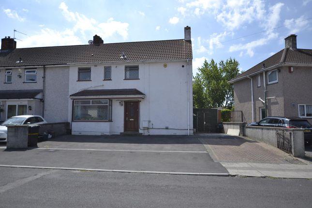 Thumbnail End terrace house for sale in Ravenglass Crescent, Bristol