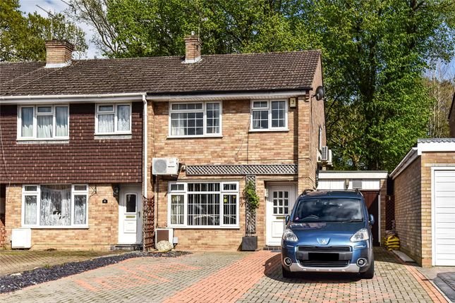 Thumbnail End terrace house for sale in Lynwood Drive, Mytchett, Camberley, Surrey