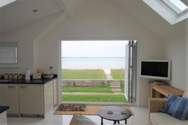 Thumbnail Detached bungalow for sale in Beachside Chalets, Marsh Road, Gurnard, Isle Of Wight