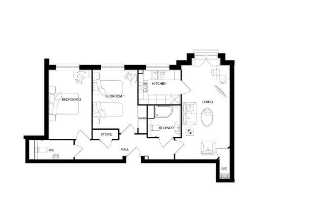 Floor Plan of Kings Lodge, 71 King Street, Maidstone, Kent ME14