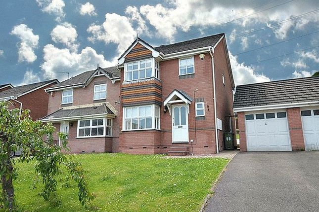 Thumbnail Detached house to rent in Hawkes Ridge, Ty Canol, Cwmbran