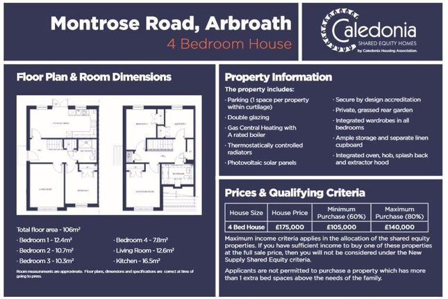 Thumbnail Property for sale in Montrose Road, Arbroath