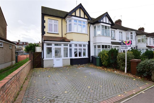 Thumbnail End terrace house for sale in Normanshire Drive, London