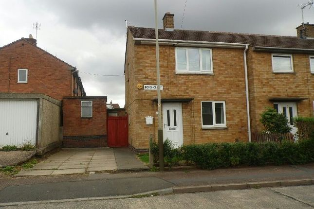 Thumbnail End terrace house to rent in Ford Close, Glen Parva, Leicester