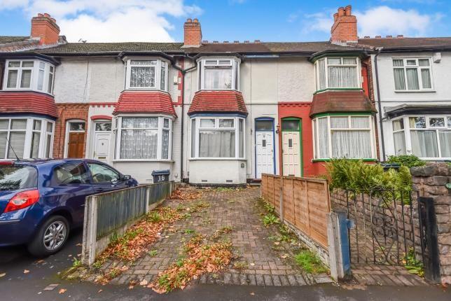 Thumbnail Terraced house for sale in Milverton Road, Erdington, Birmingham, West Midlands