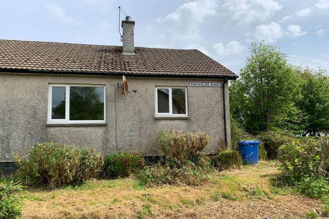 Thumbnail Semi-detached bungalow for sale in 2 Mackelvie Road, Lamlash, Isle Of Arran