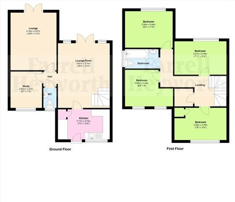 Floor Plan of Barleyfield, Preston PR5