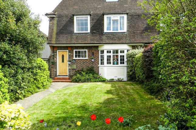 Thumbnail Semi-detached house for sale in Ruden Way, Ewell, Epsom