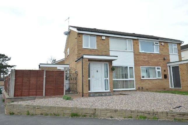 Thumbnail Semi-detached house for sale in Sonning Way, Glen Parva, Leicester