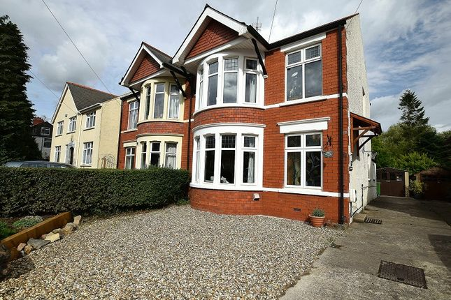 Thumbnail Semi-detached house for sale in Cae Mawr Road, Rhiwbina, Cardiff.