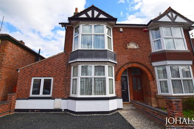 Thumbnail Semi-detached house for sale in Fairfax Road, Leicester, Leicestershire