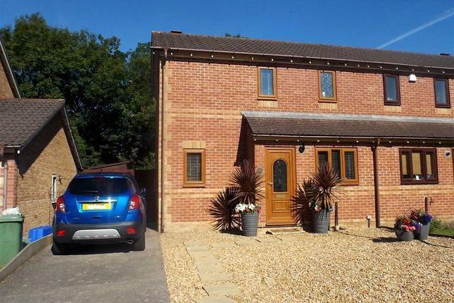 Thumbnail Semi-detached house for sale in Viburnum Rise, Llantwit Fardre, Pontypridd