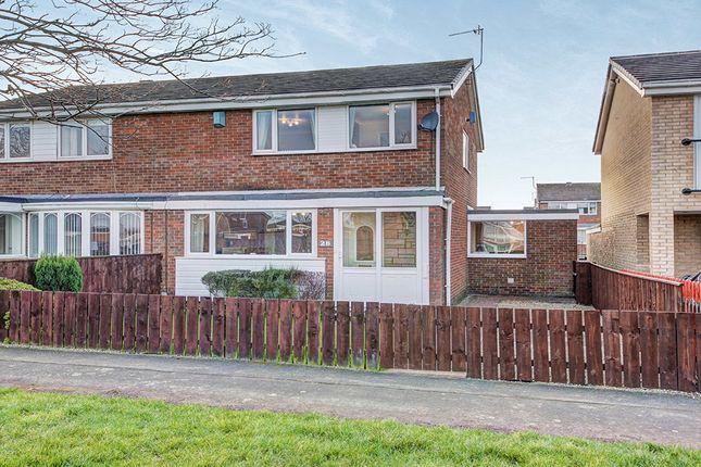 Thumbnail Semi-detached house for sale in Pentridge Close, Cramlington