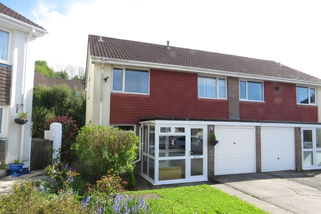 Thumbnail Semi-detached house for sale in Budleigh Close, Plymstock, Plymouth