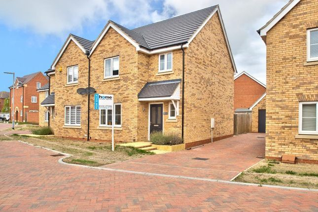 Thumbnail Semi-detached house for sale in Keeley Croft, New Cardington, Beds