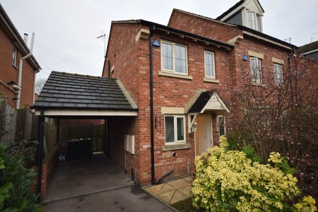 Thumbnail End terrace house to rent in Honeysuckle Close, Bessacarr, Doncaster