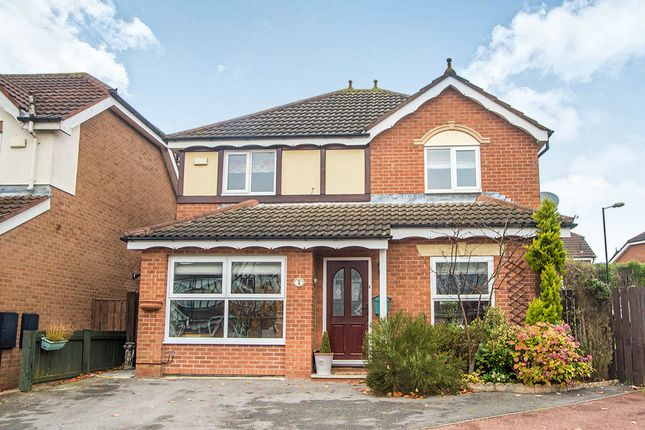 Thumbnail Detached house for sale in Hendersyde Close, Windsor Gardens, Newcastle Upon Tyne