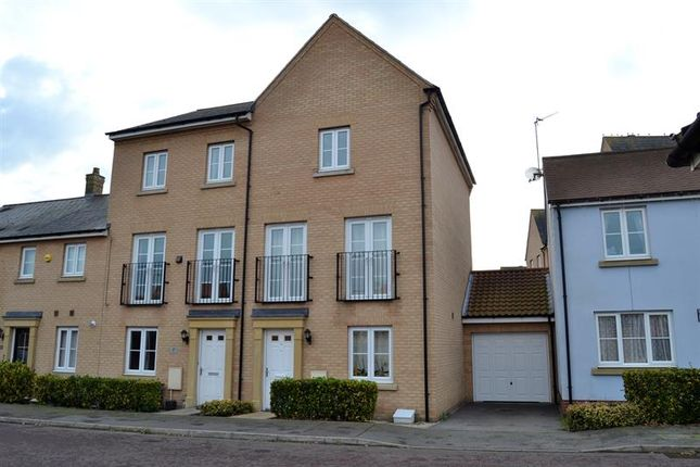 Thumbnail Town house for sale in Kirk Way, Colchester