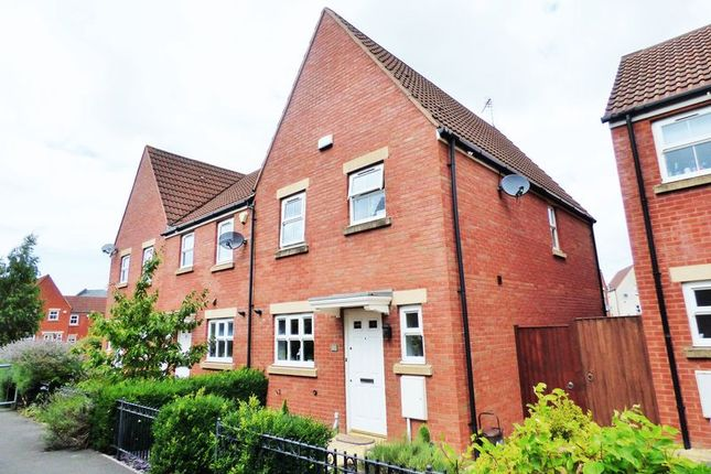 Thumbnail End terrace house for sale in Bodenham Field, Abbeymead, Gloucester