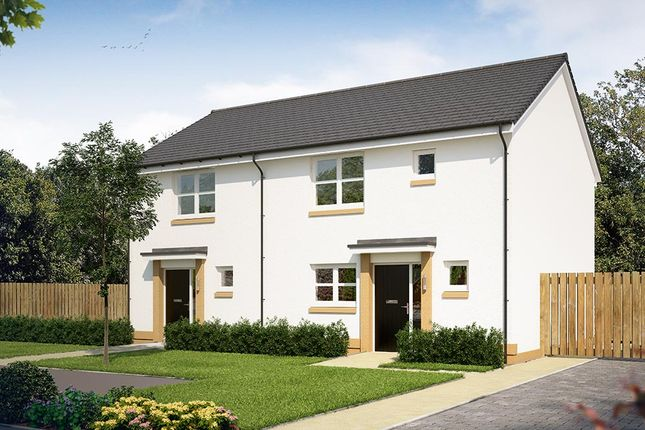 """Thumbnail Terraced house for sale in """"The Coleford"""" at Glasgow Road, Denny"""