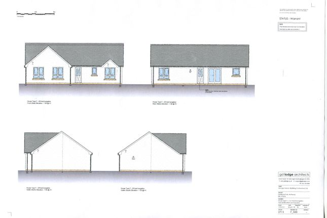 Thumbnail Detached bungalow for sale in Plot 23 Eastland Park, Isle Of Bute