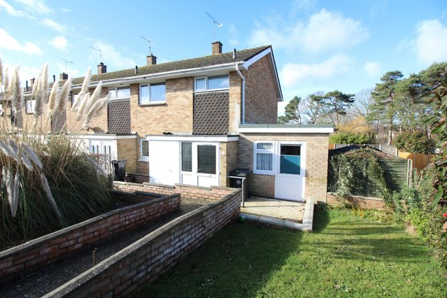 Thumbnail End terrace house for sale in Richard Close, Upton, Poole
