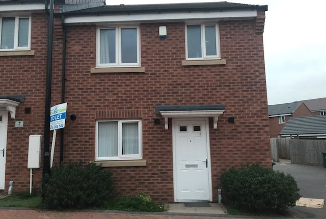 Thumbnail End terrace house to rent in Lancers Walk, Coventry