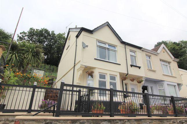 Thumbnail Semi-detached house for sale in Tynewydd Terrace, Newbridge, Newport