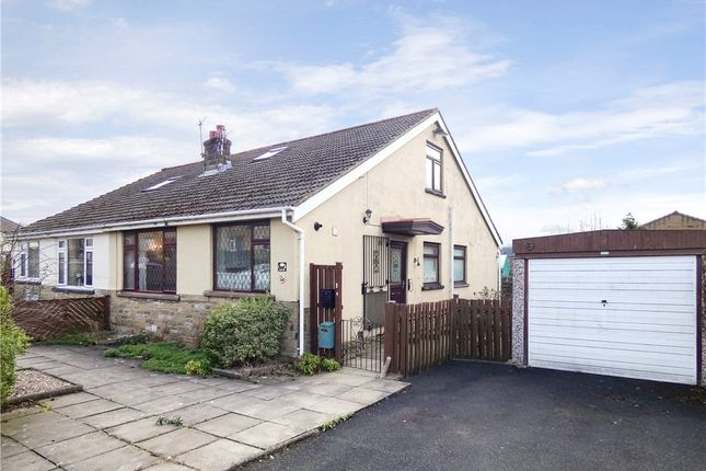 Thumbnail Semi-detached bungalow for sale in Canal Road, Crossflatts, West Yorkshire