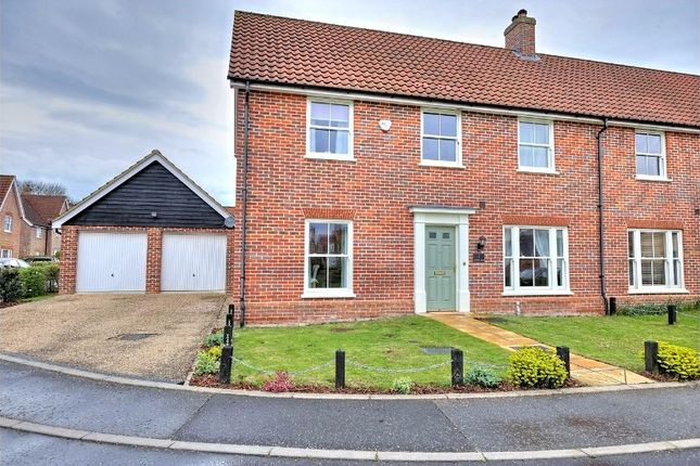 Thumbnail Semi-detached house for sale in Cornfield Road, Mulbarton