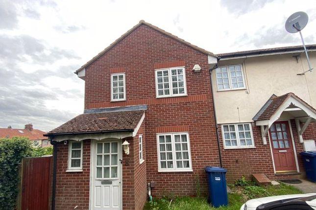 Thumbnail End terrace house to rent in Bernhart Close, Burnt Oak, Edgware