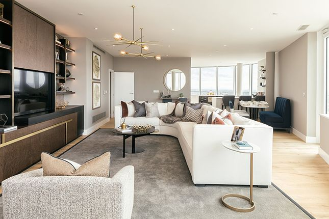 "Thumbnail Flat for sale in ""Penthouse"" at Lombard Road, Battersea, London"