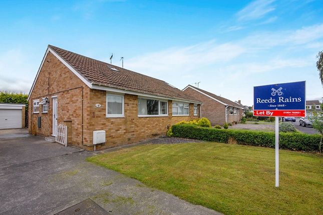 Thumbnail Bungalow to rent in Carrfield, York