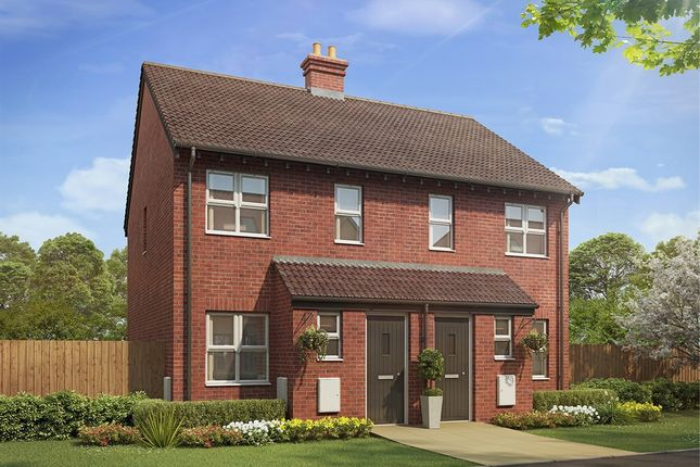 "Thumbnail Semi-detached house for sale in ""The Alnwick "" at Bannold Road, Waterbeach, Cambridge"