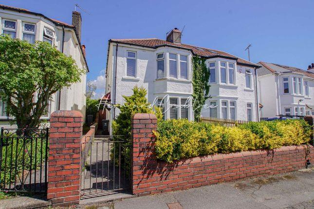 Thumbnail Semi-detached house for sale in Aubrey Avenue, Llandaff, Cardiff