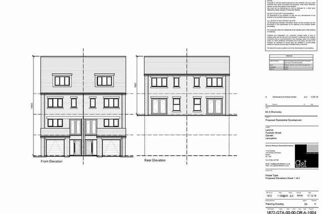 Thumbnail Land for sale in Fountain Street, Darwen
