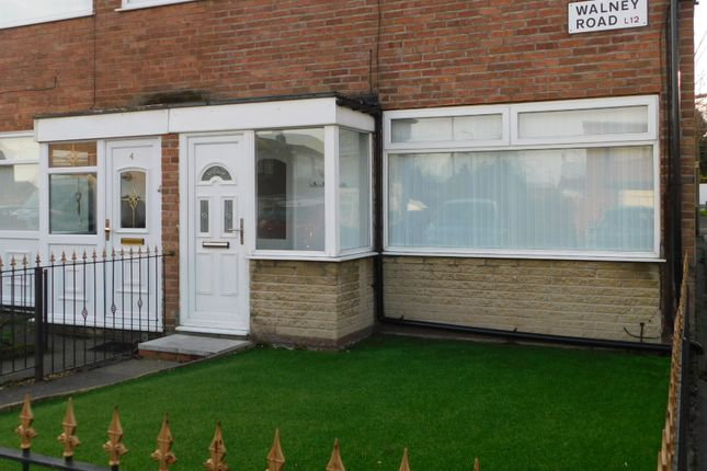 Thumbnail End terrace house to rent in Walney Road, Liverpool