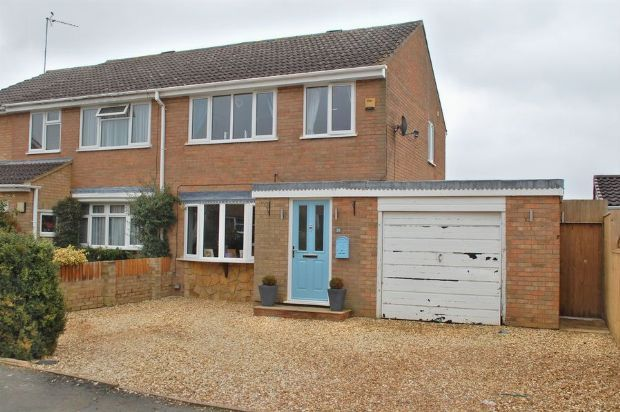 Thumbnail Semi-detached house for sale in Waggoners Way, Bugbrooke, Northampton