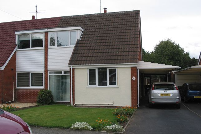Thumbnail Semi-detached house to rent in The Deansway, Kidderminster, Worcestershire