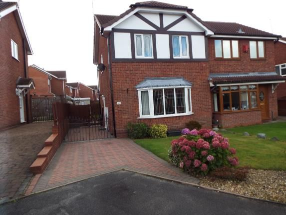Thumbnail Semi-detached house for sale in Redwing Drive, Huntington, Cannock, Staffordshire