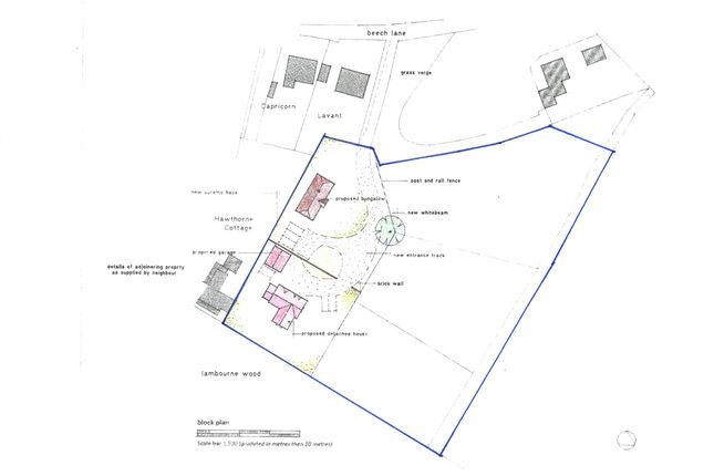 Thumbnail Property for sale in Goats Gambol Building Plot, Woodcote