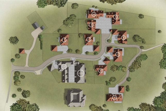 Site Plan of Crookham Hill, Crookham Common, Thatcham, Berkshire RG19