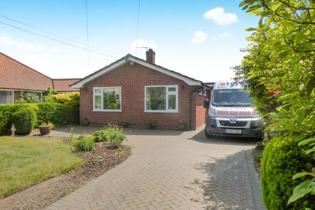 Thumbnail Detached bungalow for sale in Hargham Road, Old Buckenham, Attleborough