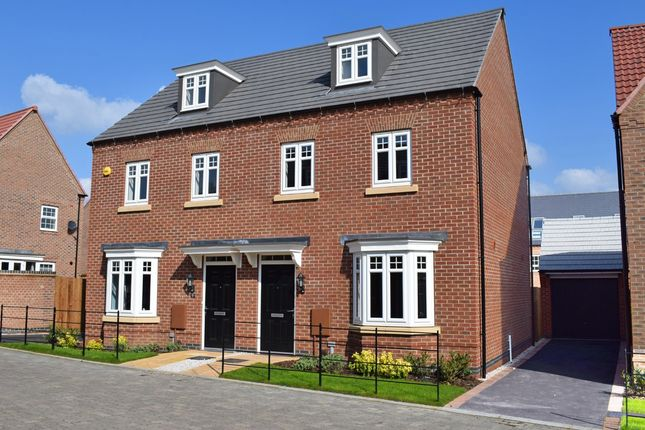"Thumbnail Semi-detached house for sale in ""Kennett"" at Newton Lane, Wigston"