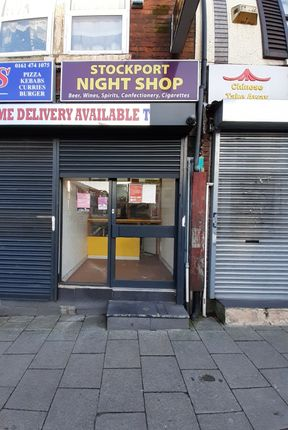 Retail premises to let in Wellington Road South, Stockport