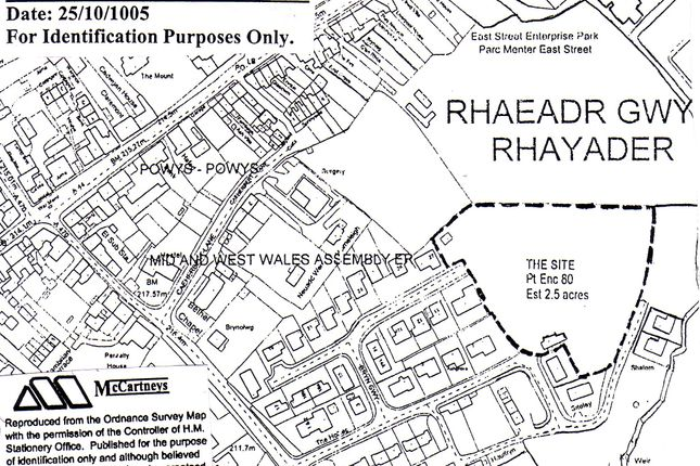 Thumbnail Land for sale in Rhayader
