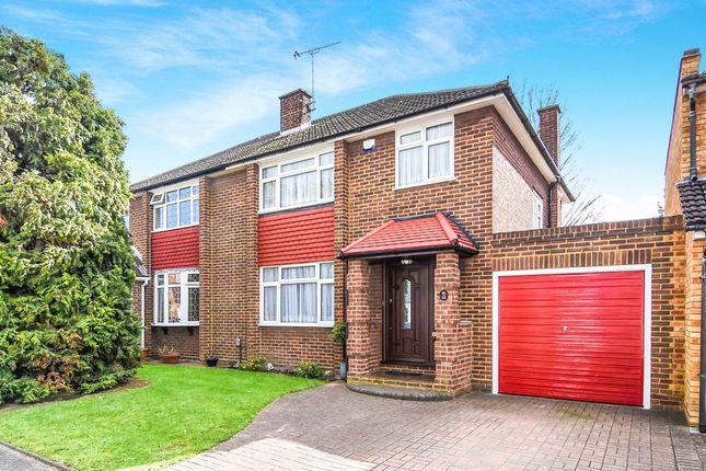 Thumbnail Semi-detached house for sale in Stanley Close, Gidea Park, Romford